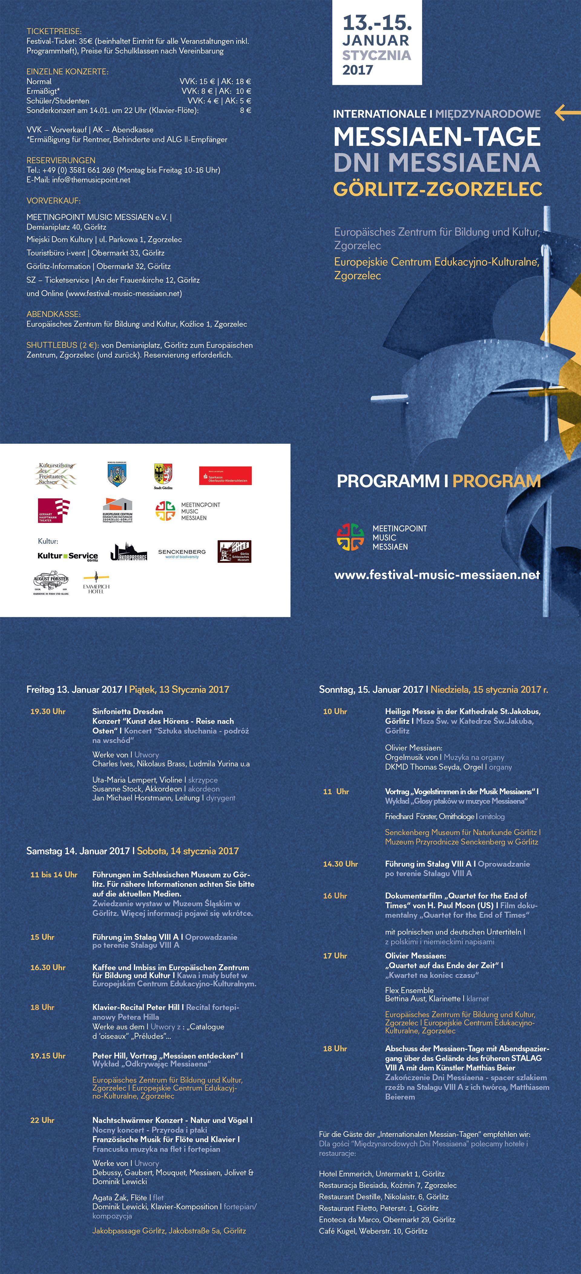Messiaen Tage 2017 Programm